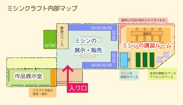 ミシンクラフト内部マップ